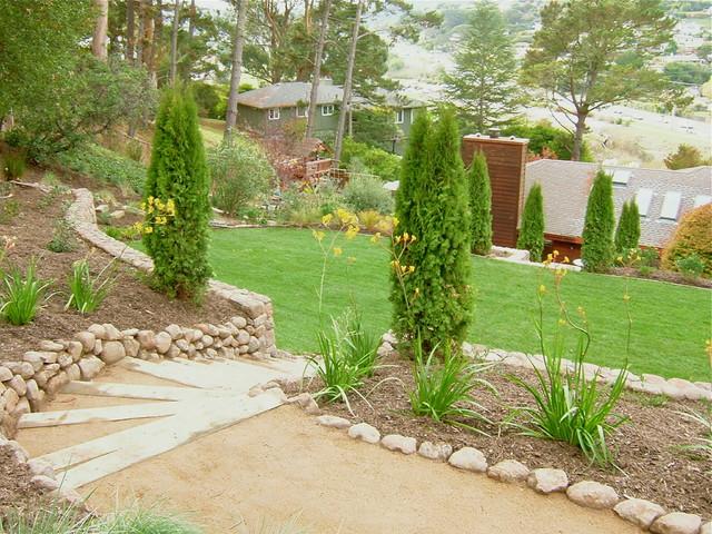 Hillside Terraces traditional-landscape
