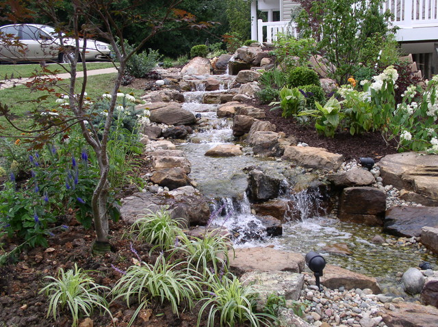Hillside Waterfall Tropical Landscape Kansas City