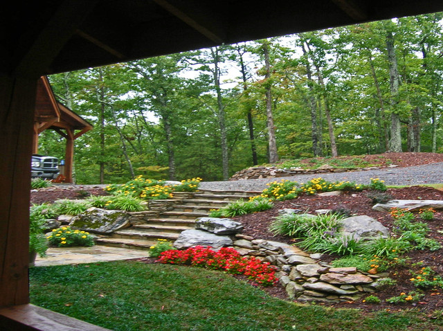 Hilltop Mountain House - Asheville NC - Landscape ... on Mountain Backyard Ideas id=43305