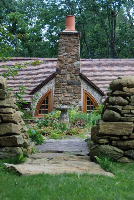 Hobbit House rustic-landscape