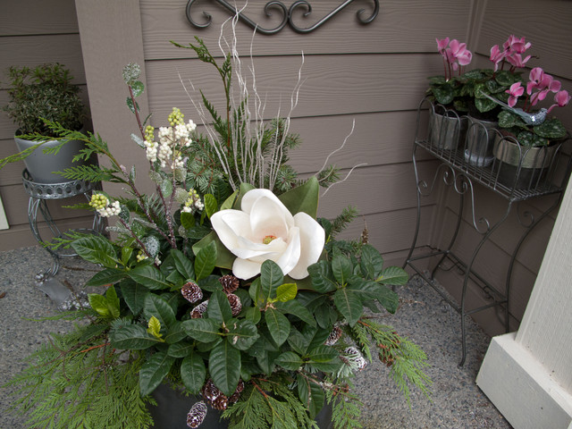 Holiday Container Gardens landscape
