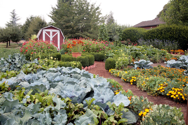 Home Farm and Garden eclectic-landscape