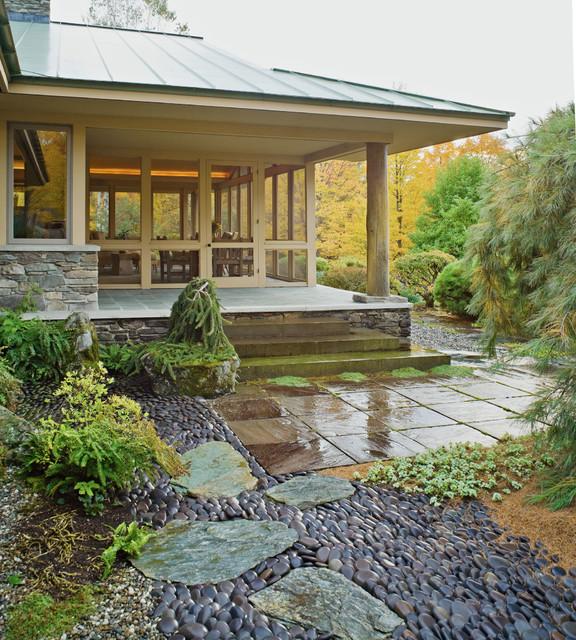 Home In A Meadow Asian Landscape Burlington By