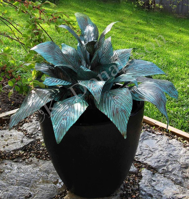 Hosta Water Fountain eclectic-landscape