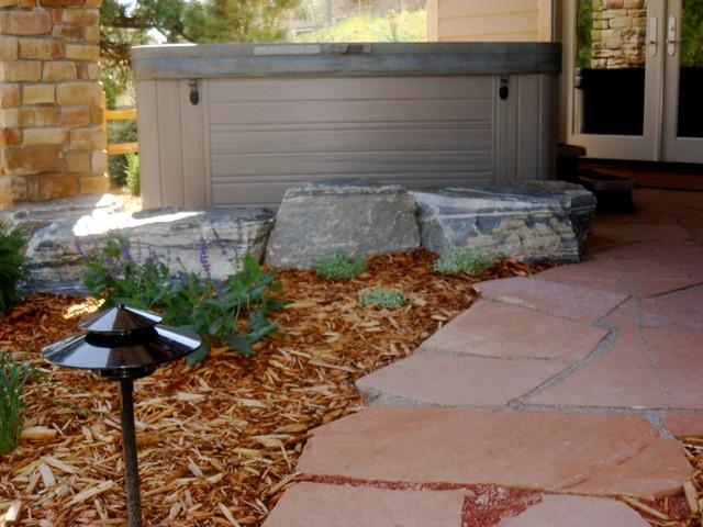 Hot Tub Garden Eclectic Landscape Denver By Bear