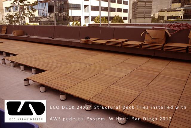 Hotel Decking With Eco Decks Ipe Deck Tiles Landscape
