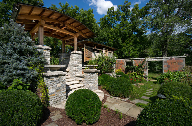 Photo of a craftsman garden path in Other.