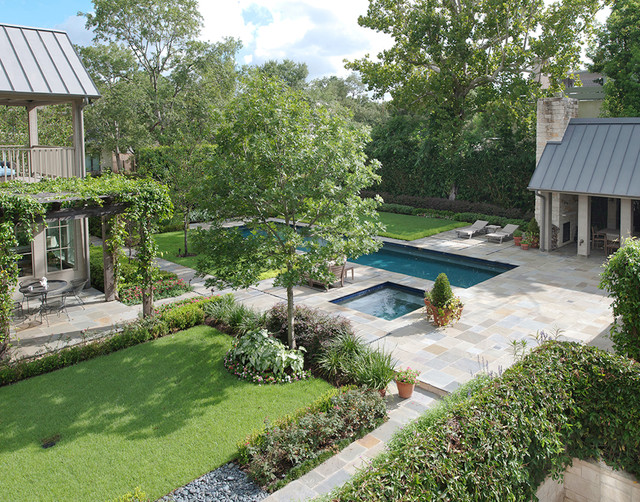Houston Residence and Poolhouse traditional-landscape