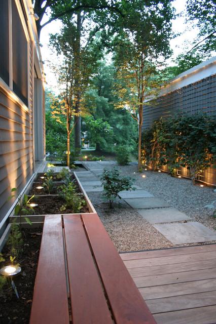 Improved breezeway between kitchen and garage contemporary-landscape