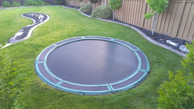 In- Ground Trampolines traditional-landscape