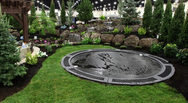 in ground trampolines traditional landscape salt lake city by decorative landscaping. Black Bedroom Furniture Sets. Home Design Ideas
