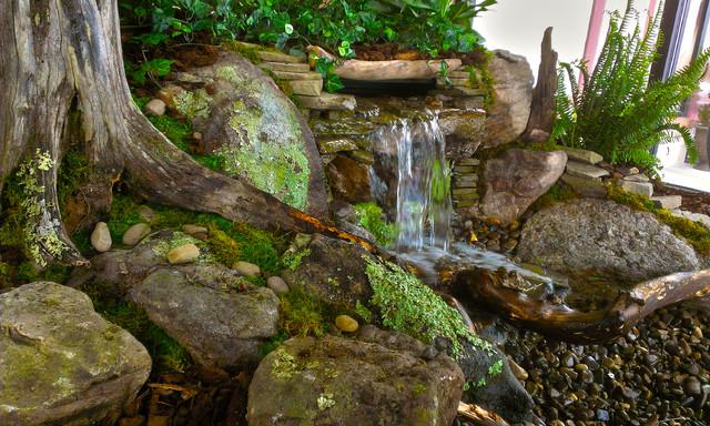 Indoor waterfalls indoor pondless waterfalls landscape - Waterfall designs for indoor ...