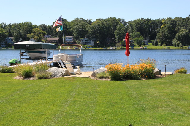 Inland Lake House Beach Style Landscape Grand Rapids By