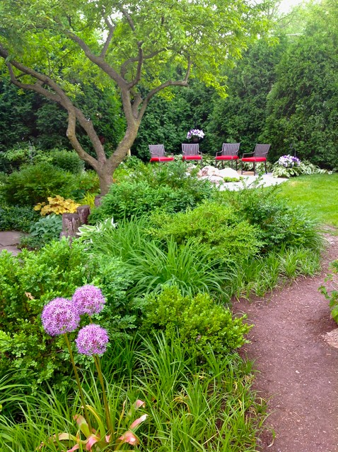 Integrated Rain Garden traditional-landscape