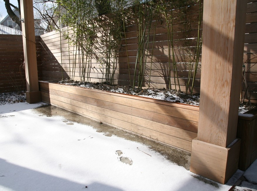 Ipe planter for bamboo