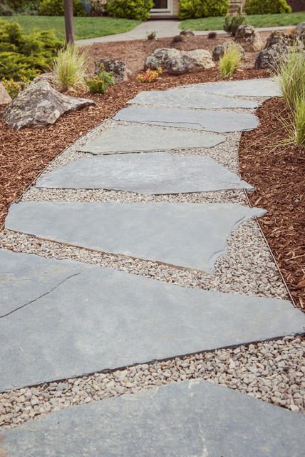 Iron Mountain Flagstone Gravel Walkway Modern
