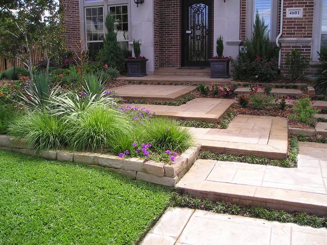 Irwin residence plano tx modern landscape dallas for 4 modern front yard ideas