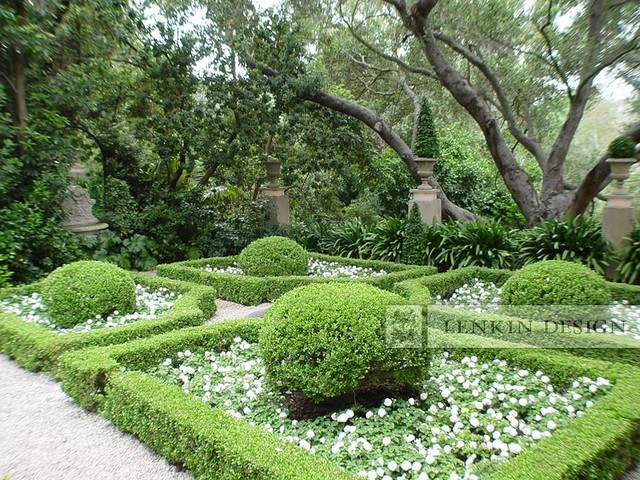 Italian   French Parterre Garden Traditional Landscape