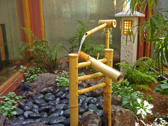 Modern table lamps in living room - Japanese Courtyard Garden Asian Landscape San