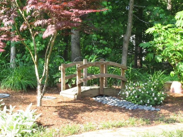 japanese garden bridge asian landscape