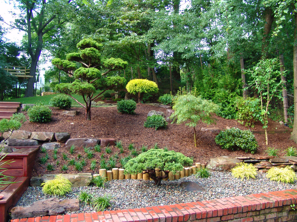 Design ideas for an asian hillside landscaping in DC Metro.