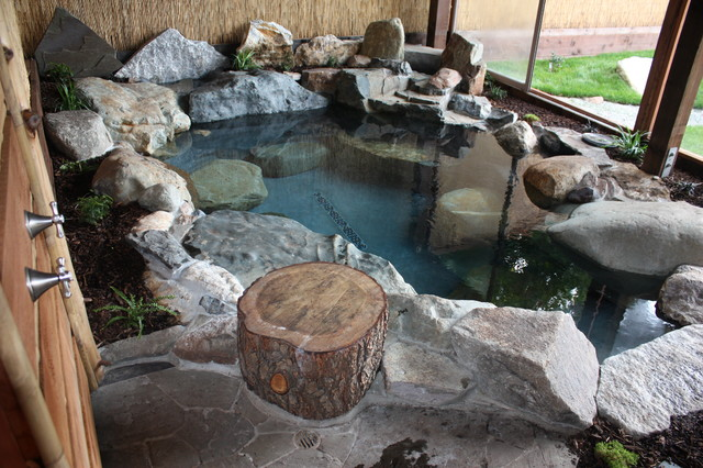 Japanese Garden Spa Natural Hot Tub Asian Landscape