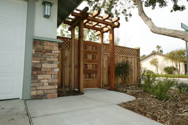 japanese side gate to garden asian landscape san diego by