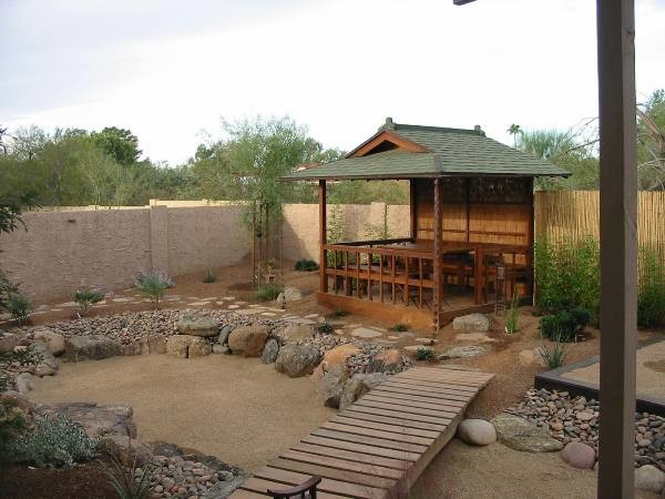 Japanese Tea Garden In The Desert Asian Landscape