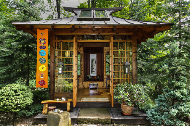 Japanese tea house asian landscape other by miriam for Home designs llc