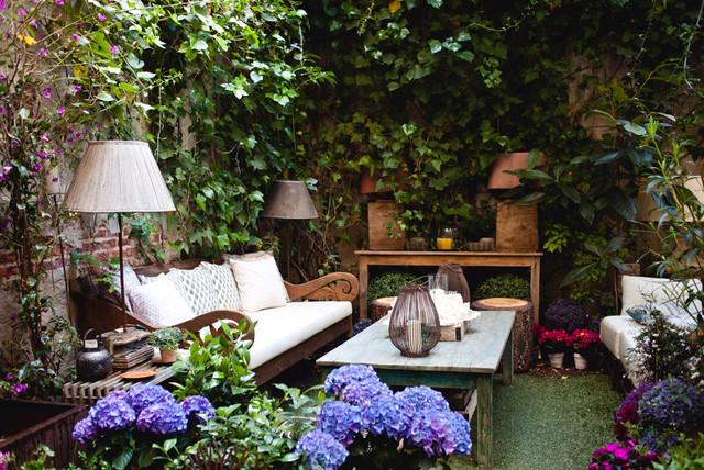 Jardin de gu imaro mediterr neo jard n madrid de for Diseno jardin mediterraneo
