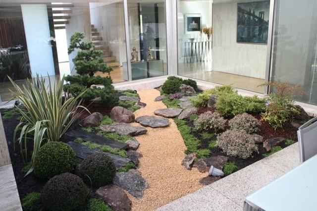 jardin japones con niwaki asiatisch garten madrid. Black Bedroom Furniture Sets. Home Design Ideas