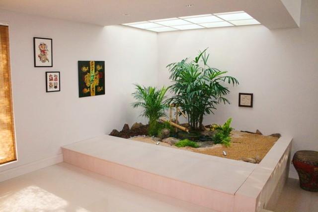 Jardin zen moderno asi tico jard n madrid de for Jardines zen interior