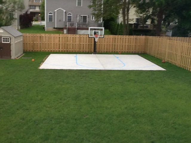 Exceptionnel John Cu0027s Pro Dunk Silver Basketball System On A 28x25 In DUNELLEN, NJ  Traditional
