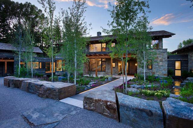John Dodge Compound Rustic Landscape Salt Lake City