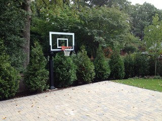 Joseph P S Pro Dunk Silver Basketball System On A 26x22 In Arlington Va Traditional Landscape Baltimore By Hoops