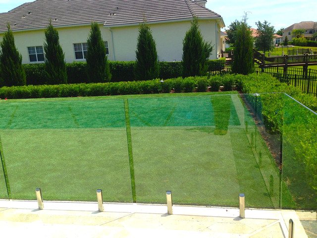 Keenes Pointe Synthetic Turf Yard Contemporary