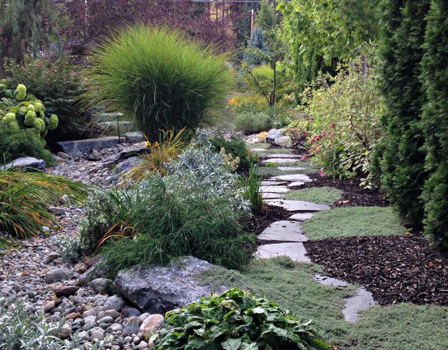 Kelowna Xeriscape - Rustic - Landscape - Other - By Synergy Landscape Design Ltd