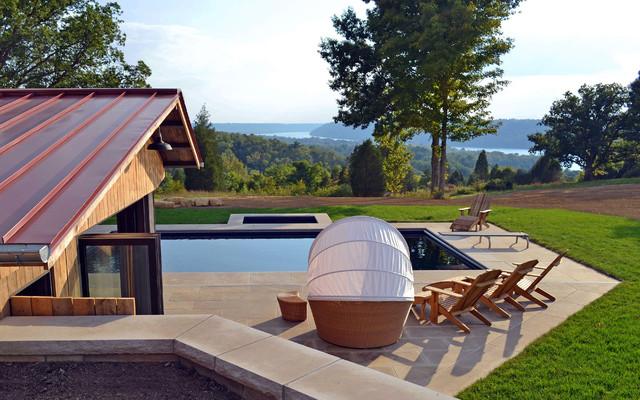 Kentucky pool house modern landscape louisville by for Pool design louisville ky