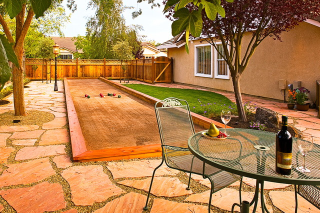 Outdoor Shuffleboard Backyard