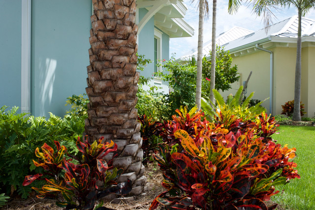 Key West Style Home Landscape In Naples