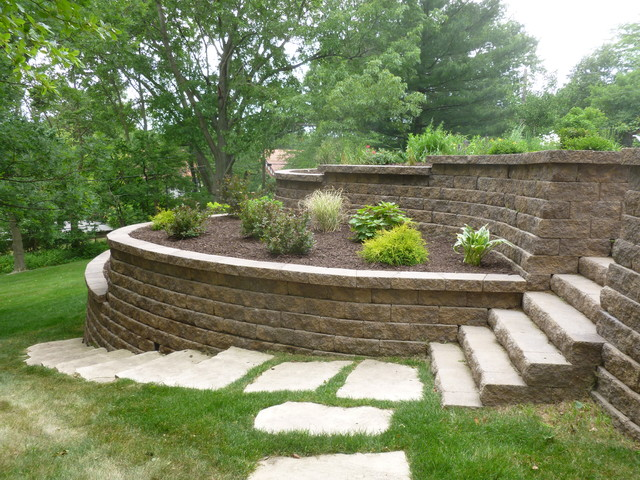 Keystone Retaining Wall Traditional Landscape other
