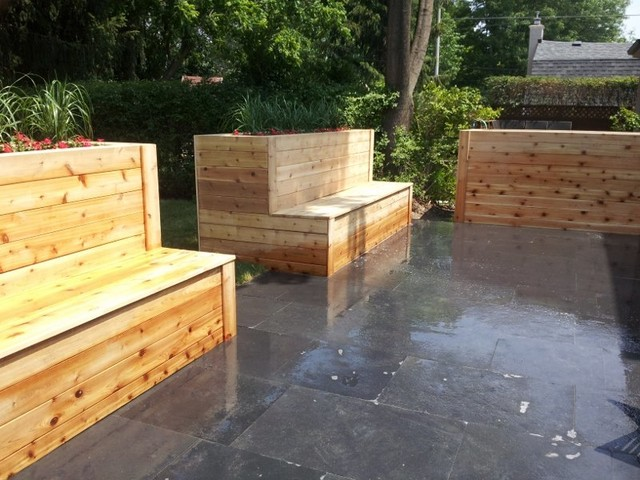 Knotty Western Red Cedar Planter boxes! contemporary-landscape