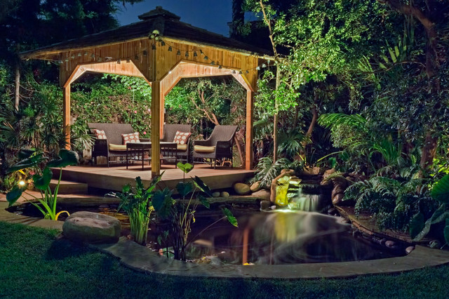 Koi pond and tropical gazebo encinitas for Koi for sale san diego