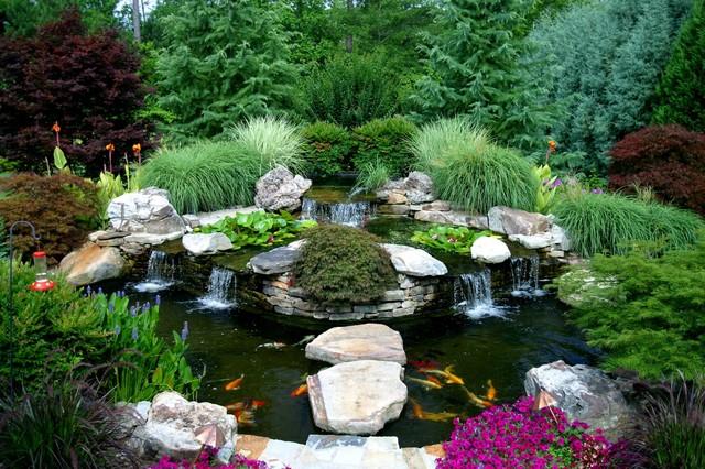 Koi Pond Asian Landscape Atlanta By Artistic Landscapes