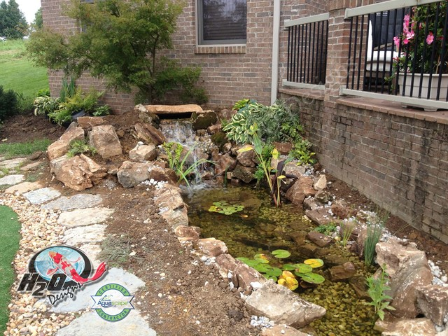 Koi Pond Backyard Pond Small Pond Ideas For Your Kentucky Landscape American Traditional Garden Louisville By H2o Designs