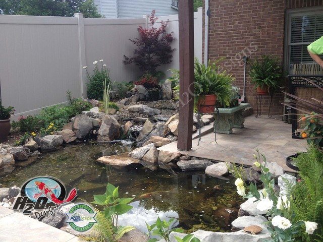 Koi pond backyard pond small pond ideas for your for Small pond design ideas