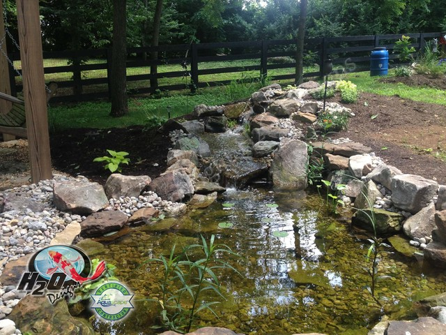 Koi Pond Backyard Pond Small Pond Ideas For Your Kentucky Landscape Louisville By H2o Designs