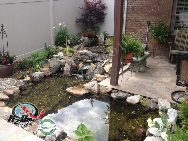koi pond backyard pond small pond ideas for your kentucky landscape traditional garden - Koi Pond Design Ideas