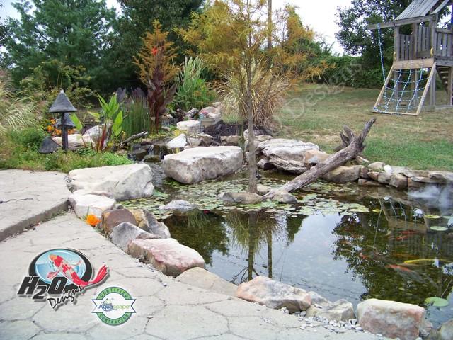 koi pond backyard pond small pond ideas for your kentucky landscape. Black Bedroom Furniture Sets. Home Design Ideas