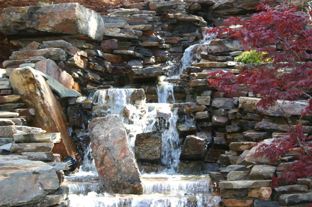 Koi ponds, watergardens, Ponds, waterfeatures traditional-landscape